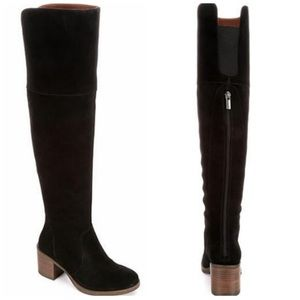 Lucky Brand rayla Black suede Over the knee boots